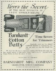 Cotton batts for cars advertisement