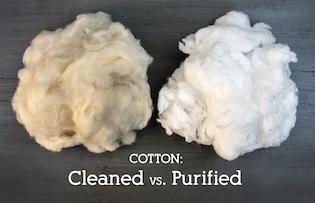 Cleaned cotton vs Purified cotton   Barnhardt Cotton